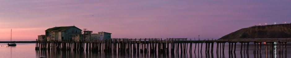 Abandoned Pier at Dawn, Princeton Harbor, 2011